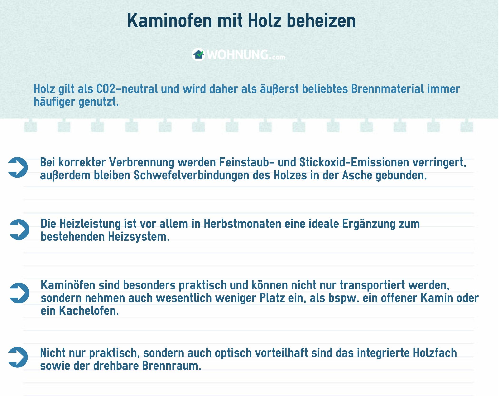 Kaminofen: Natürliches Heizen mit Holz - Wohnung.com Ratgeber