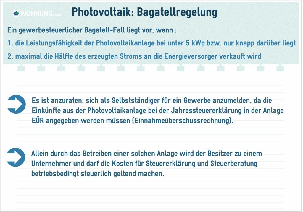 PhotovoltaikSteuernBagatellregelung