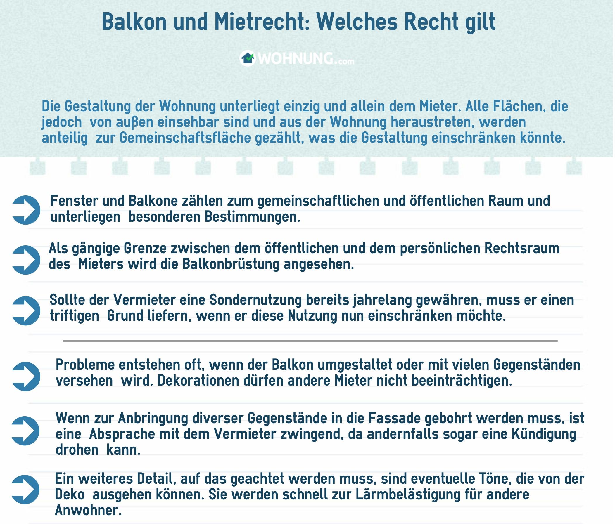 Recht: Wie darf der Balkon wirklich genutzt werden? - Wohnung.com ...