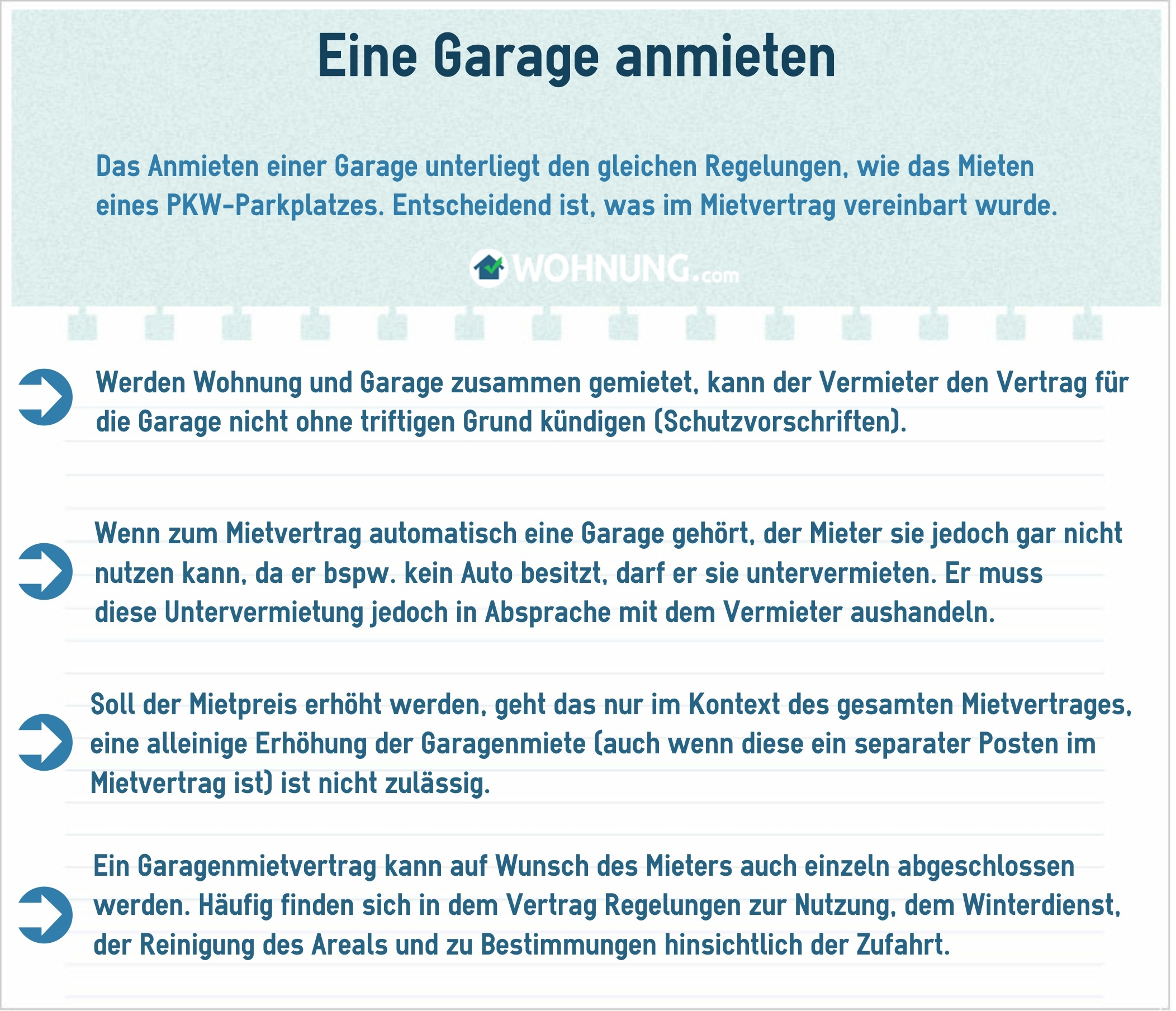 Garagen Parkplätze Rechtliche Grundlage Für Mieter Und Vermieter