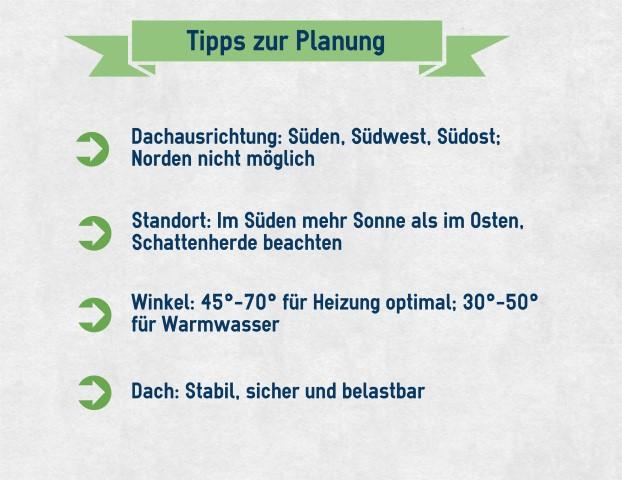Tipps zur Planung der Solaranlage